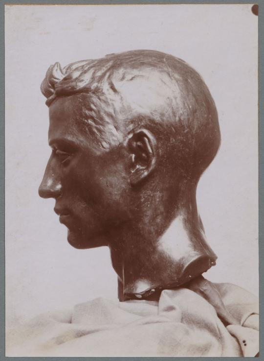 Kopf Francesco, 1899, Bronze