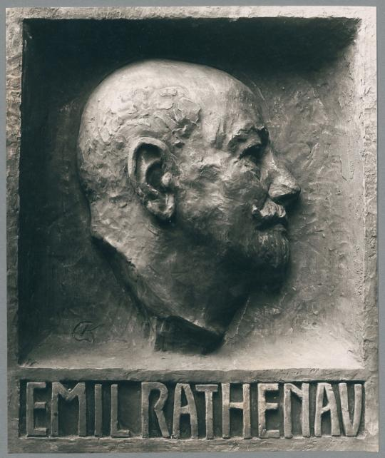 Porträtrelief Emil Rathenau, 1928/29, Bronze