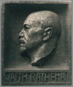 Porträtrelief Walther Rathenau, 1928/29, Bronze