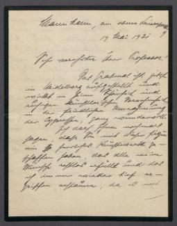 Brief von Hermann Albert Marx an Georg Kolbe